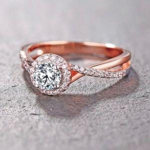 Rose Gold Diamond Engagement Ring 💍